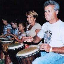 Henry at drum circle 4-09
