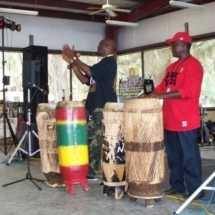 Thobos and Kasa during drum workshop 10-10