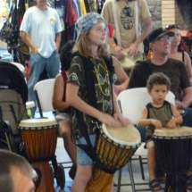 Tiponi drumming in workshop 10-10