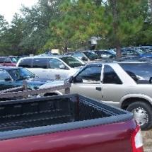 full parking lot 10-12