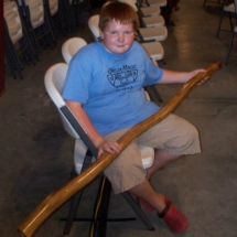 proud to get a didgeridoo on his birthday