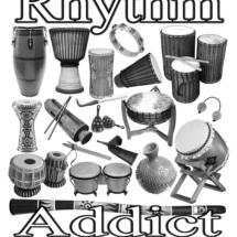 rhythm addict front t-shirt 10-15